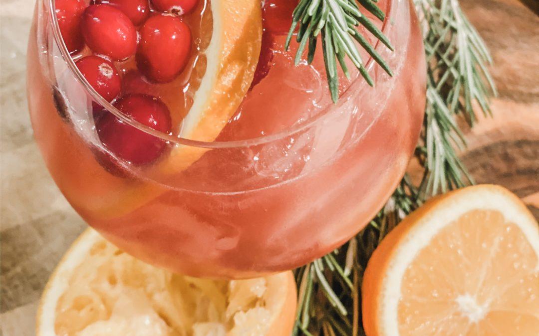 Orange Cranberry Gin Cocktail